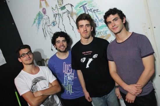 José Mateus, Tiago Ferreira, Alexandre Coelho, e David Ribeiro, da esquerda para a direita, são os elementos dos Three Angled Mirror