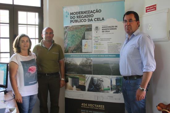 Élia Pimenta, da câmara de Alcobaça, ao lado de Carlos Malhó e Paulo Mateus, dos Beneficiários da Cela