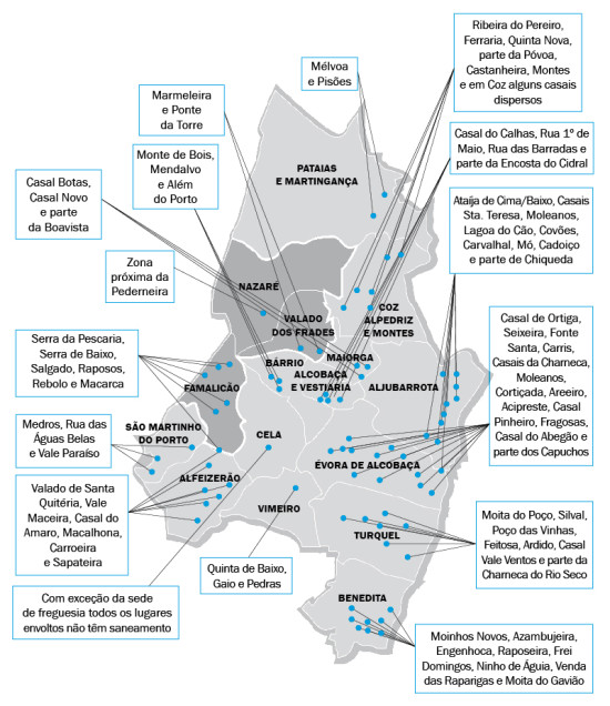 mapa saneamento