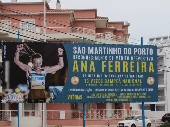 Ana Ferreira homenagem sao martinho do porto