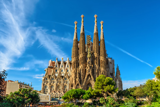 Cathedral of La Sagrada Familia. It is designed by architect Antonio Gaudi and is being build since 1882.