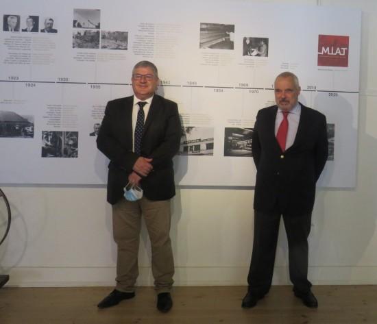 Inauguração do MIAT 18 de Maio Presidente da Camara de Porto de Mós Jorge Vala e José Paulo Baptista